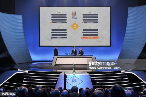 A general view during League D draw of the UEFA Nations League Draw on January 24 2018 in Lausanne Switzerland
