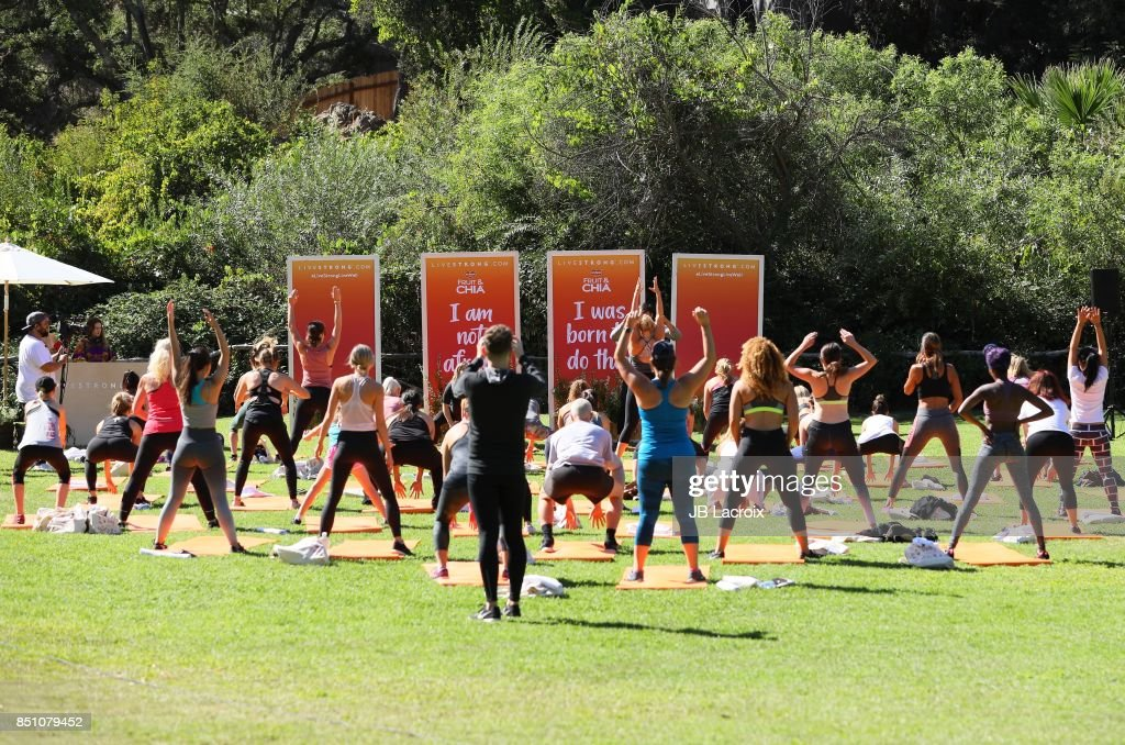 LIVESTRONG.COM Presents Everyday Health Heroes Workout With Shawn Johnson : News Photo
