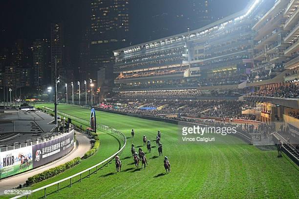 General view during Longines International Jockeys' Championship at Happy Valley Racecourse on December 7 2016 in Hong Kong Hong Kong