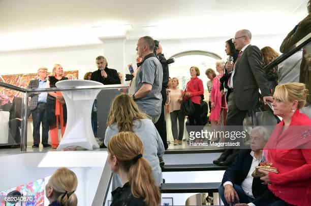 General view during 'Maximilian Seitz EinwicklungenImpressionismusFest im Orient' Exhibition Opening at Susanne Wiebe Fashion Store on May 11 2017 in...