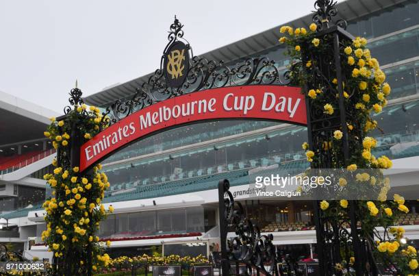 General view during Melbourne Cup Day at Flemington Racecourse on November 7 2017 in Melbourne Australia