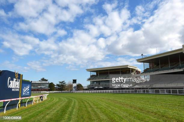 General view during Melbourne Racing at Caulfield Racecourse on July 28 2018 in Melbourne Australia