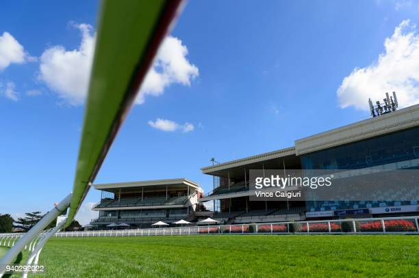 General view during Melbourne Racing at Caulfield Racecourse on March 31 2018 in Melbourne Australia
