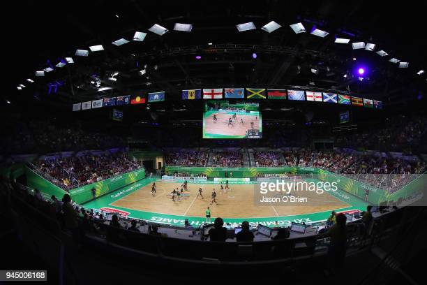 General view during Netball on day eight of the Gold Coast 2018 Commonwealth Games at Gold Coast Convention Centre on April 12 2018 on the Gold Coast...