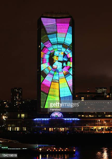 A general view during Nokia's Lumia Live launch of the Lumia 800 Smartphone at Millbank Tower on November 28 2011 in London England Millbank Tower on...