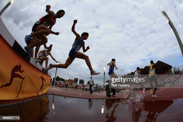 A general view during of the men's 3000m steeplechase on day three of The IAAF World U20 Championships on July 12 2018 in Tampere Finland