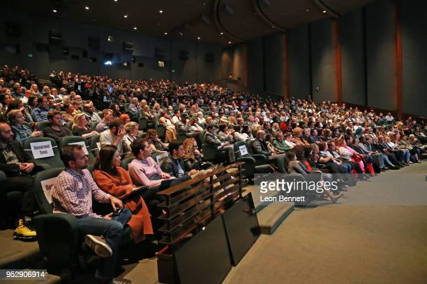 General view during panel discussion at the TBS' FYC Event For The Last OG And Search Party at Steven J Ross Theatre on the Warner Bros Lot on April...