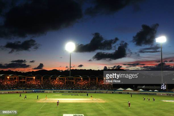 A general view during play in the ICC World Twenty20 Super Eight match between West Indies and Australia at the Beausejour Cricket Ground on May 11...