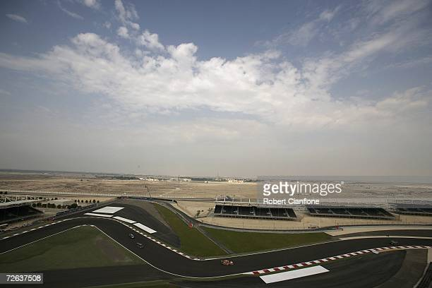 A general view during practice for round 12 of the V8 Supercars at the Bahrain International Circuit November 24 2006 in Al Manamha Bahrain