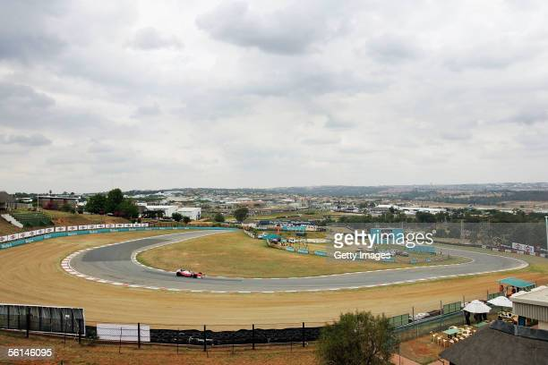 A general view during practice for the inaugral Grand Prix Masters race at Kyalami circuit on November 12 2005 in Johannesburg South Africa