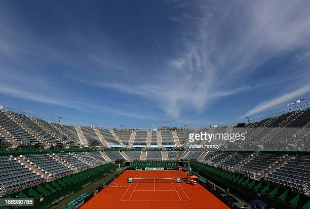 A general view during previews ahead of the Fed Cup World Group Two PlayOffs between Argentina and Great Britain at Parque Roca on April 18 2013 in...