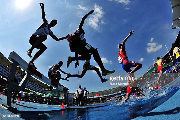 A general view during round one of the Boys 2000 Meters Steeplechase on day three of the IAAF World Youth Championships Cali 2015 on July 17 2015 at...
