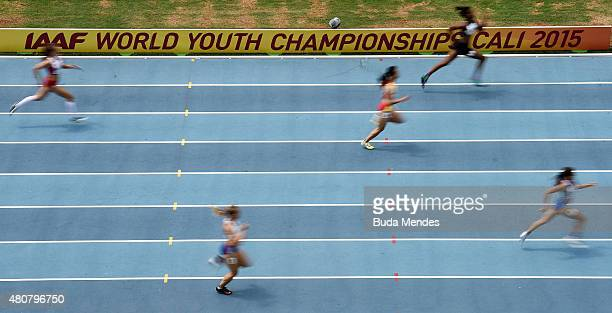 A general view during round one of the Girls 400 Meters on day one of the IAAF World Youth Championships Cali 2015 on July 15 2015 at the Pascual...