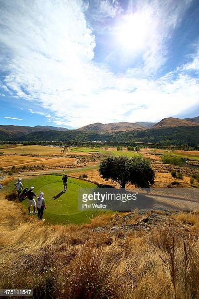 A general view during round one of the New Zealand Open at The Hills Golf Club on February 27 2014 in Queenstown New Zealand