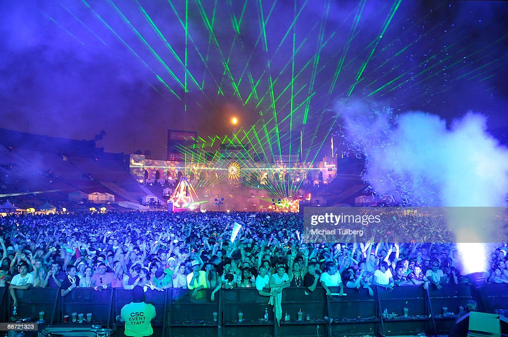 A general view during the 13th annual Electric Daisy Carnival electronic music festival on June 26, 2009 in Los Angeles, California.