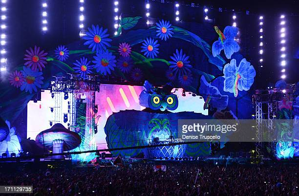 A general view during the 17th annual Electric Daisy Carnival at Las Vegas Motor Speedway on June 21 2013 in Las Vegas Nevada