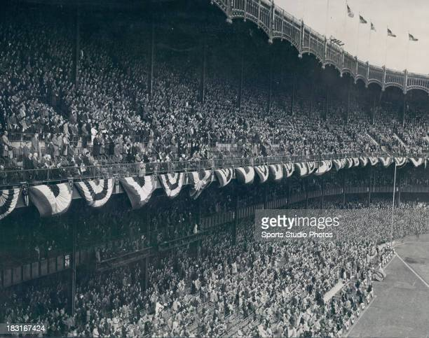 A general view during the 19512 World Series at Yankee Stadium in the Bronx borough of New York City