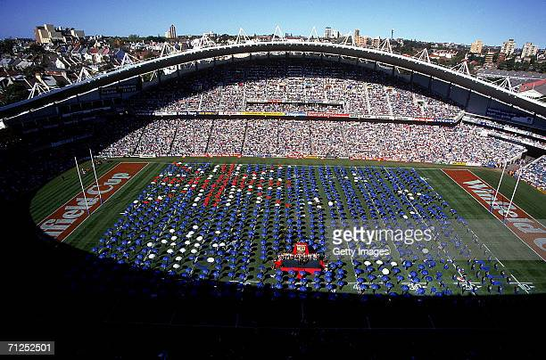 General view during the 1994 ARL Grand Final between the Canberra Raiders and the Canterbury Bulldogs at the Sydney Football Stadium 1994 in Sydney...