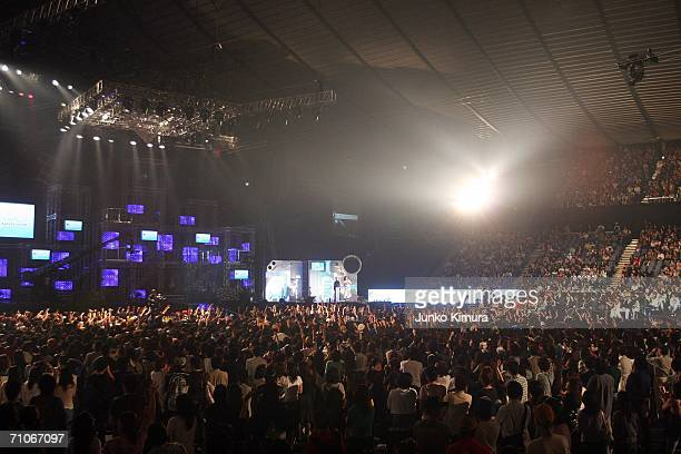 A general view during the 2006 MTV Video Music Awards at Yoyogi National Athletic Stadium on May 27 2006 in Tokyo Japan
