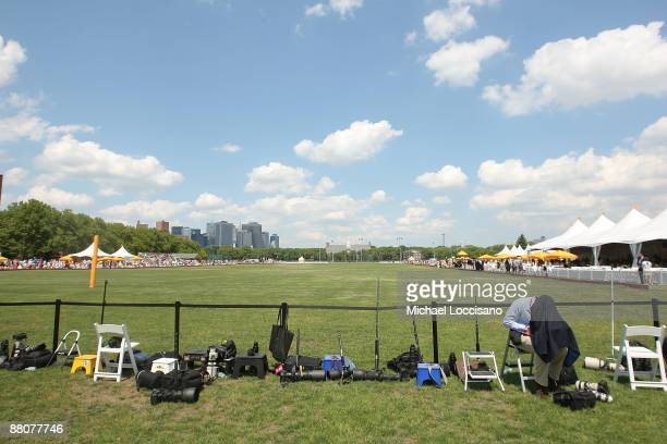 General view during the 2009 Veuve Clicquot Manhattan Polo Classic on Governors Island on May 30, 2009 in New York City.