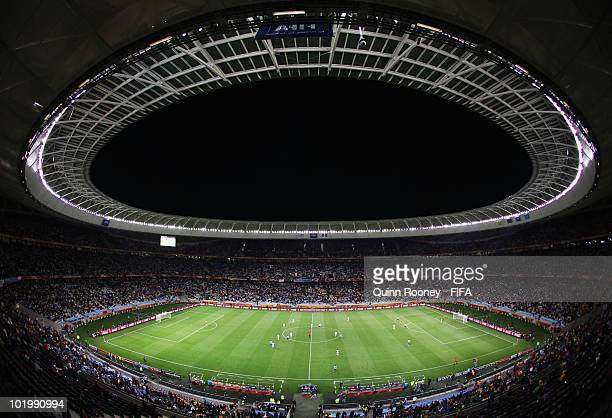 A general view during the 2010 FIFA World Cup South Africa Group A match between Uruguay and France at Green Point Stadium on June 11 2010 in Cape...