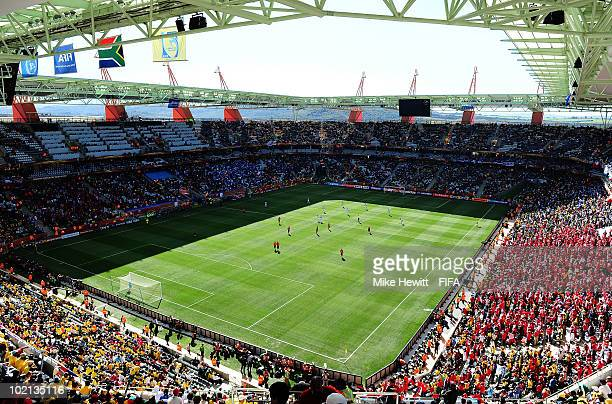 A general view during the 2010 FIFA World Cup South Africa Group H match between Honduras and Chile at the Mbombela Stadium on June 16 2010 in...