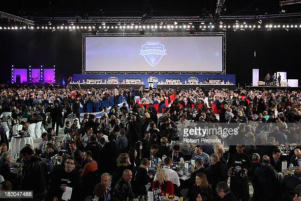 A general view during the 2013 Blackwoods North Melbourne Grand Final Breakfast at Etihad Stadium on September 28 2013 in Melbourne Australia