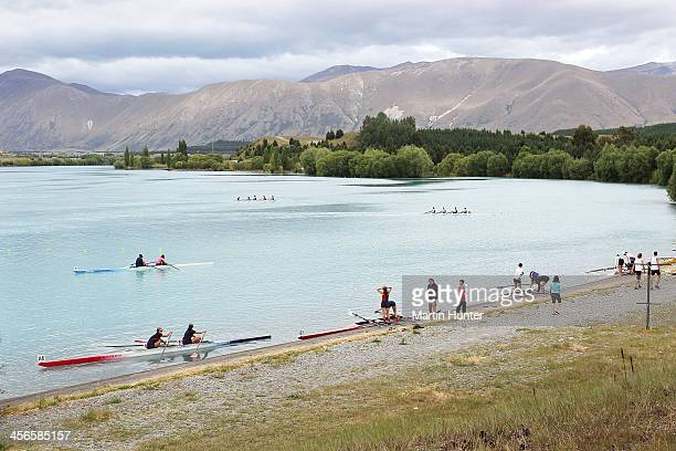 General view during the 2013 Meridian Otago Championships at Lake Ruataniwha on December 15, 2013 in Central Otago, New Zealand.