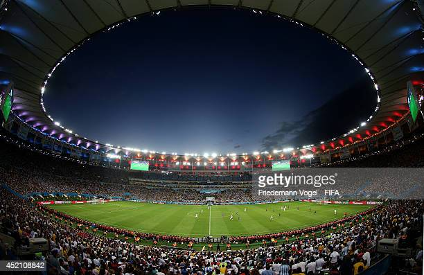 General view during the 2014 FIFA World Cup Brazil Final match between Germany and Argentina at Maracana on July 13 2014 in Rio de Janeiro Brazil