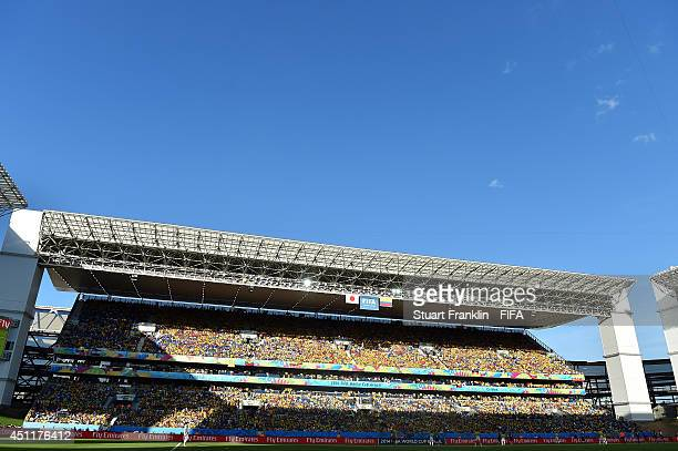 General view during the 2014 FIFA World Cup Brazil Group C match between Japan and Colombia at Arena Pantanal on June 24 2014 in Cuiaba Brazil