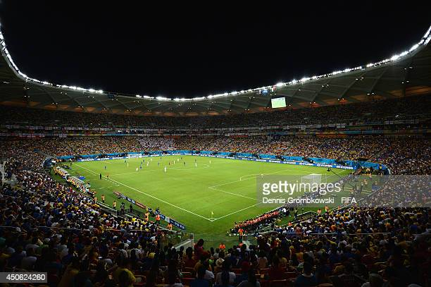A general view during the 2014 FIFA World Cup Brazil Group D match between England and Italy at Arena Amazonia on June 14 2014 in Manaus Brazil