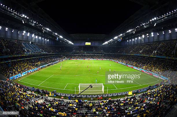 General view during the 2014 FIFA World Cup Brazil Group E match between Honduras and Ecuador at Arena da Baixada on June 20 2014 in Curitiba Brazil
