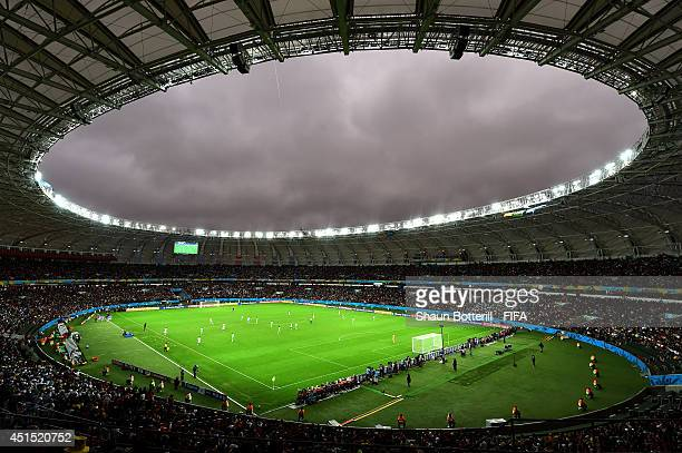 General view during the 2014 FIFA World Cup Brazil Round of 16 match between Germany and Algeria at Estadio BeiraRio on June 30 2014 in Porto Alegre...