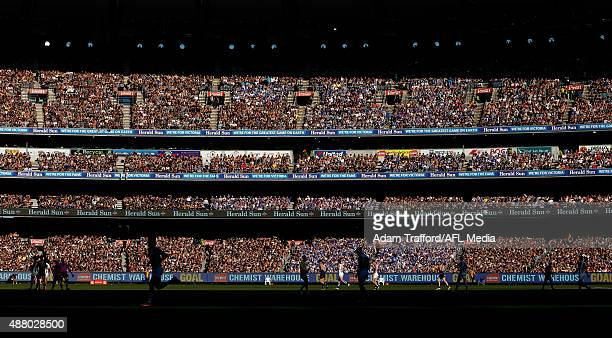 A general view during the 2015 AFL First Elimination Final match between the Richmond Tigers and the North Melbourne Kangaroos at the Melbourne...
