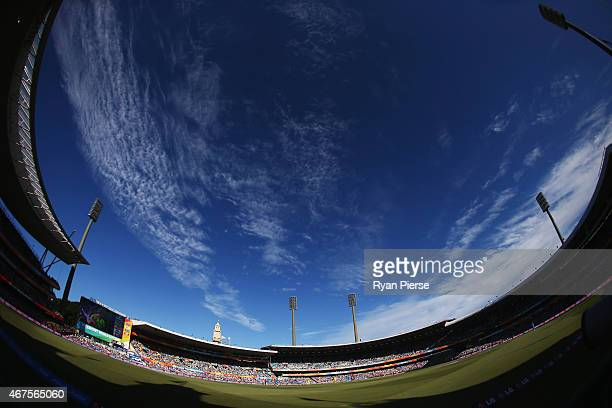 A general view during the 2015 Cricket World Cup Semi Final match between Australia and India at Sydney Cricket Ground on March 26 2015 in Sydney...