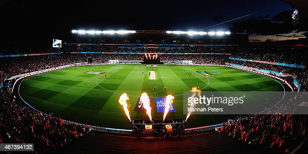 General view during the 2015 Cricket World Cup Semi Final match between New Zealand and South Africa at Eden Park on March 24, 2015 in Auckland, New...