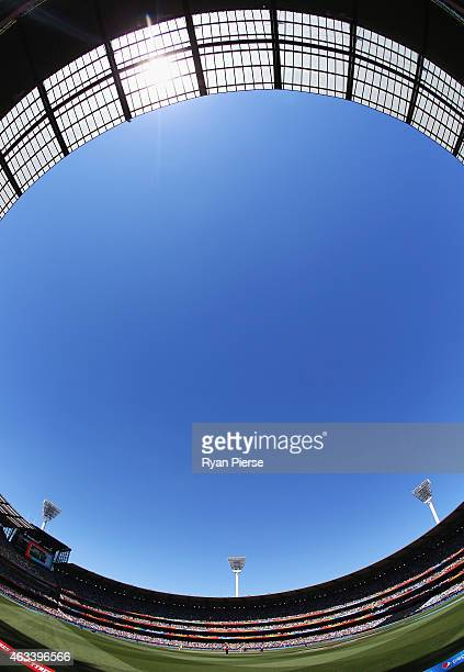 A general view during the 2015 ICC Cricket World Cup match between England and Australia at Melbourne Cricket Ground on February 14 2015 in Melbourne...