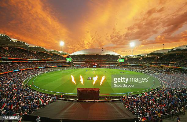 General view during the 2015 ICC Cricket World Cup match between India and Pakistan at Adelaide Oval on February 15, 2015 in Adelaide, Australia.