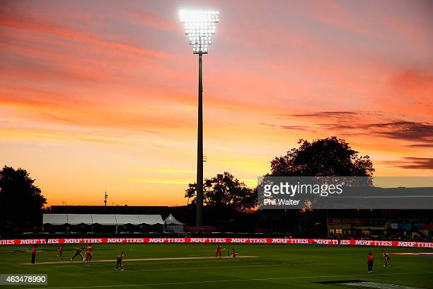 General view during the 2015 ICC Cricket World Cup match between South Africa and Zimbabwe at Seddon Park on February 15, 2015 in Hamilton, New...