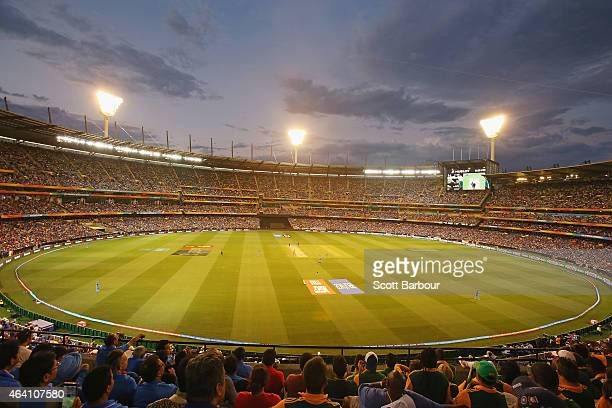 A general view during the 2015 ICC Cricket World Cup match between South Africa and India at Melbourne Cricket Ground on February 22 2015 in...