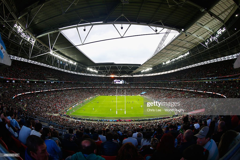 A general view during the 2015 Rugby World Cup Pool C match between New Zealand and Argentina at Wembley Stadium on September 20, 2015 in London, United Kingdom.