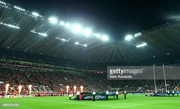 General view during the 2015 Rugby World Cup Pool C match between New Zealand and Tonga at St James' Park on October 9 2015 in Newcastle upon Tyne...
