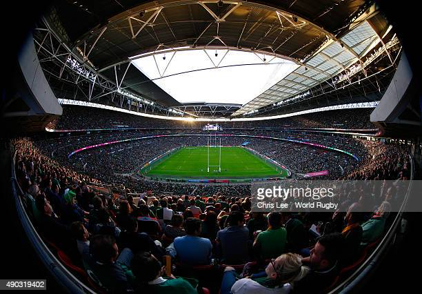 A general view during the 2015 Rugby World Cup Pool D match between Ireland and Romania at Wembley Stadium on September 27 2015 in London United...