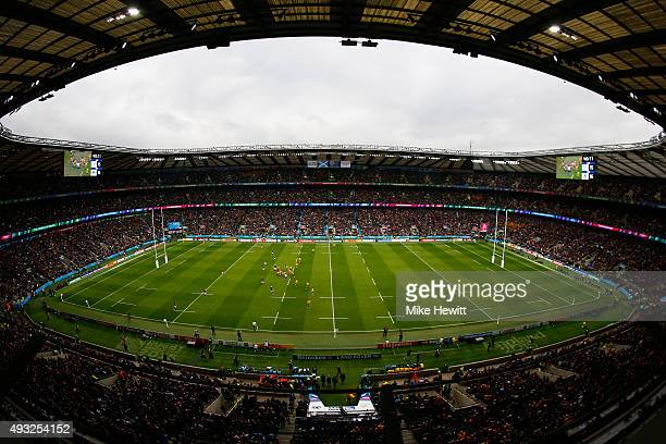 A general view during the 2015 Rugby World Cup Quarter Final match between Australia and Scotland at Twickenham Stadium on October 18 2015 in London...