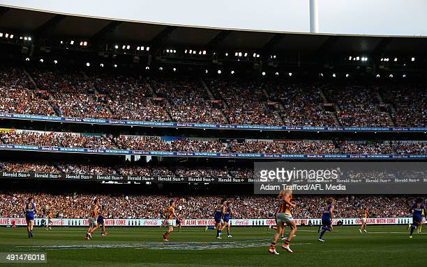 A general view during the 2015 Toyota AFL Grand Final match between the Hawthorn Hawks and the West Coast Eagles at the Melbourne Cricket Ground...
