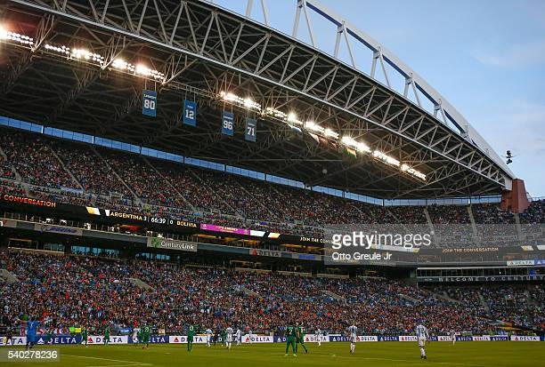 A general view during the 2016 Copa America Centenario Group D match between Argentina and Bolivia at CenturyLink Field on June 14 2016 in Seattle...