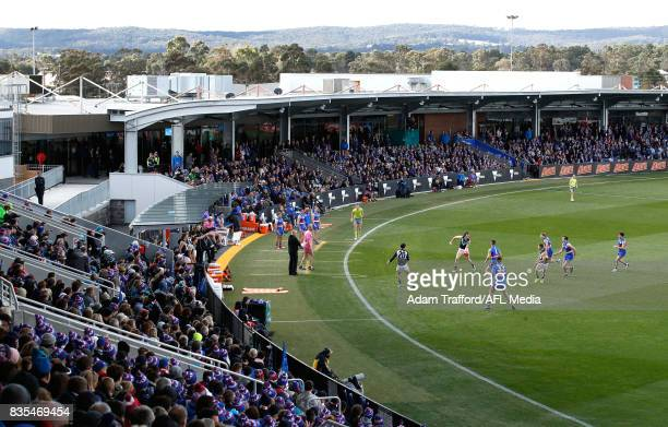 A general view during the 2017 AFL round 22 match between the Western Bulldogs and the Port Adelaide Power at Mars Stadium on August 19 2017 in...