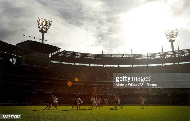 A general view during the 2017 AFL round 23 match between the Richmond Tigers and the St Kilda Saints at the Melbourne Cricket Ground on August 27...