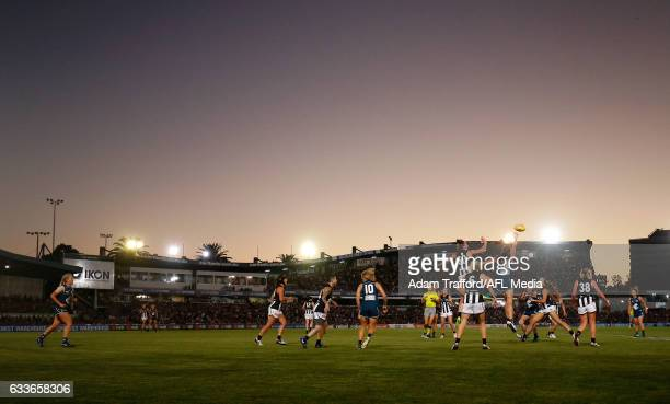 A general view during the 2017 AFLW Round 01 match between the Carlton Blues and the Collingwood Magpies at Ikon Park on February 3 2017 in Melbourne...