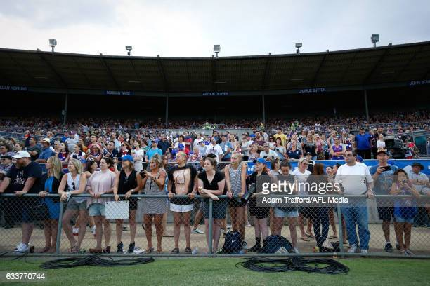 General view during the 2017 AFLW Round 01 match between the Western Bulldogs and the Fremantle Dockers at VU Whitten Oval on February 4, 2017 in...